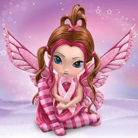 5D Diamond Painting Pink Striped Fairy Kit