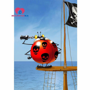 5D Diamond Painting Pirate Ladybug Kit