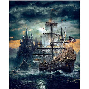 5D Diamond Painting Pirate Ship Kit