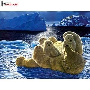 5D Diamond Painting Polar Bear Cubs Kit