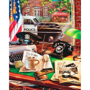 5D Diamond Painting Police of the Past Kit