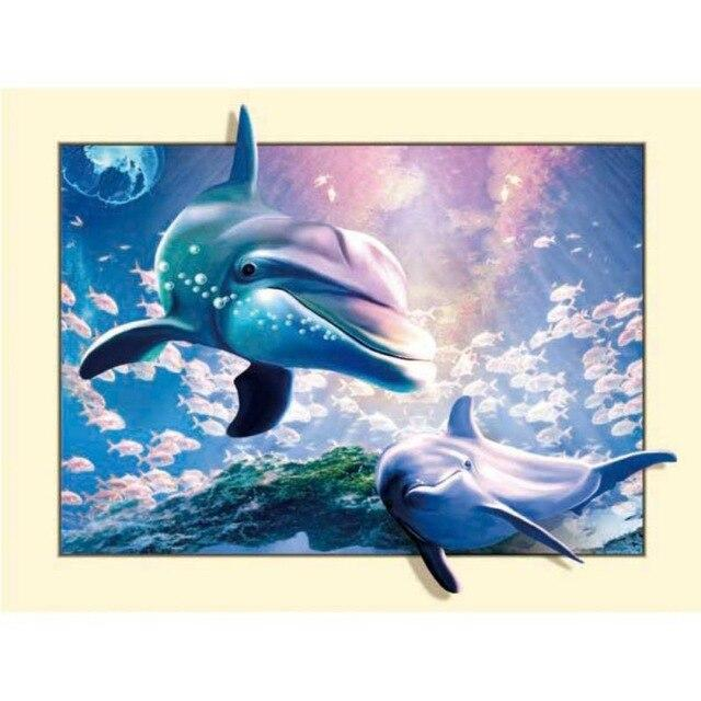 5D Diamond Painting Pop Out Dolphins Kit