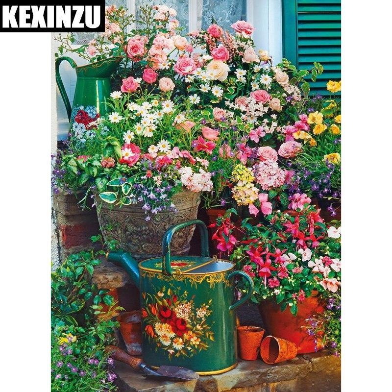 5D Diamond Painting Pots of Flowers Kit