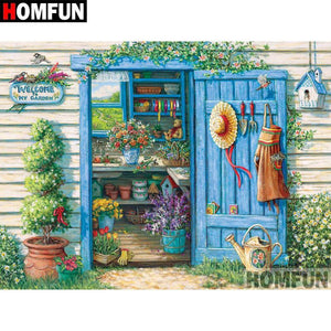 5D Diamond Painting Potting Shed Kit