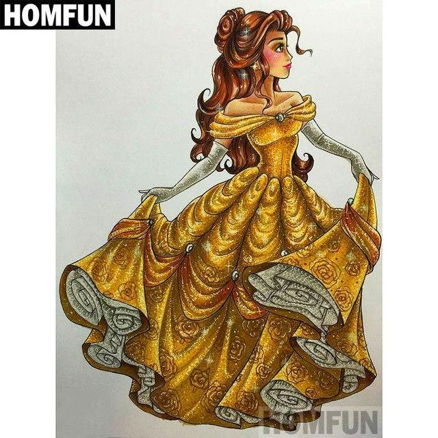 5D Diamond Painting Princess Belle Kit