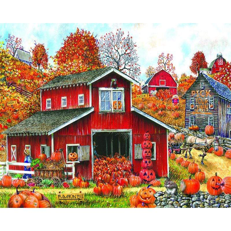 5D Diamond Painting Pumpkin Barn Kit