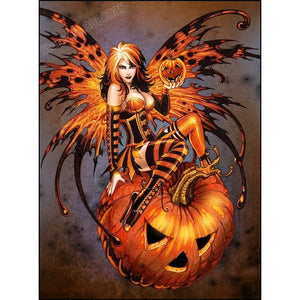 5D Diamond Painting Pumpkin Butterfly Fairy Kit