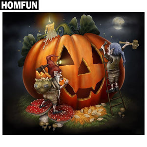 5D Diamond Painting Pumpkin Carving Kit
