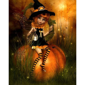 5D Diamond Painting Pumpkin Fairy Kit