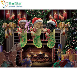 5D Diamond Painting Puppy Stocking Stuffers Kit