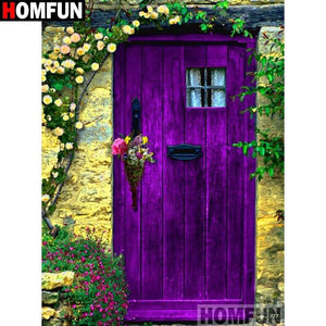 5D Diamond Painting Purple Door Welcome Kit