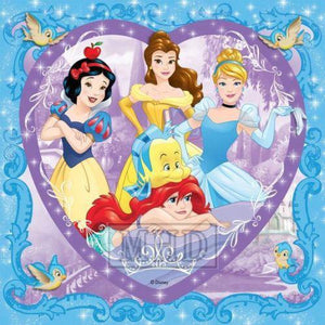 5D Diamond Painting Purple Heart Disney Princess Kit