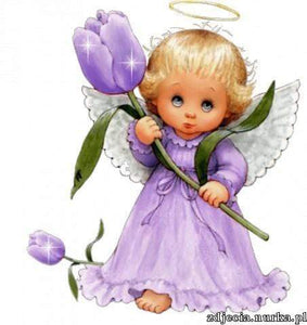 5D Diamond Painting Purple Tulip Angel Kit