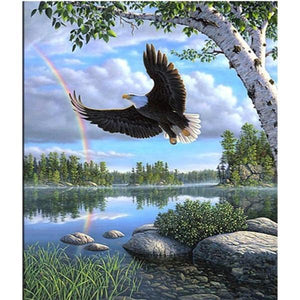 5D Diamond Painting Rainbow Eagle Kit