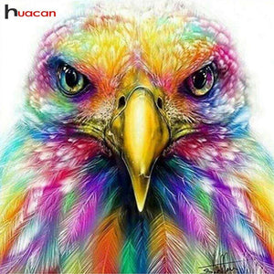 5D Diamond Painting Rainbow Feather Falcon Kit