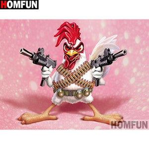 5D Diamond Painting Rambo Rooster Kit