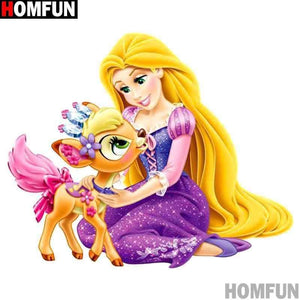 5D Diamond Painting Rapunzel and her Deer Pet Kit