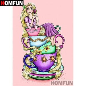 5D Diamond Painting Rapunzel Teacup Kit