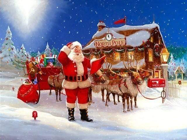 5D Diamond Painting Ready to Go Santa Kit