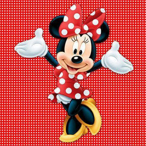 5D Diamond Painting Red and White Minnie Mouse Kit
