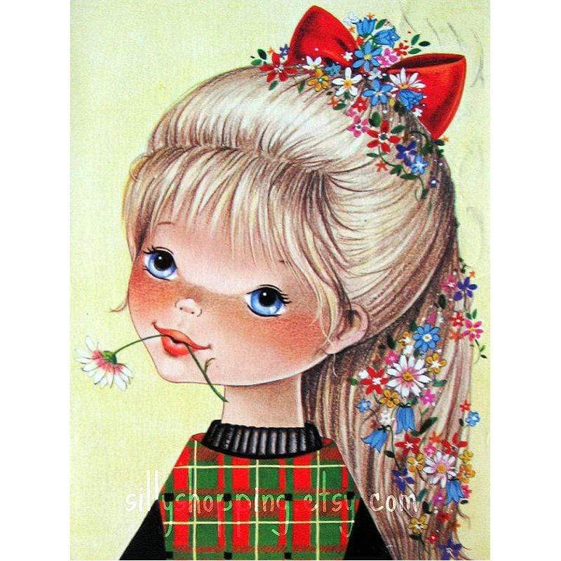 5D Diamond Painting Red Bow Girl Kit