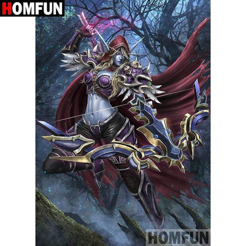 5D Diamond Painting Red Cape Warrior Kit