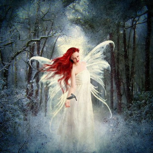 5D Diamond Painting Red Haired Angel Kit