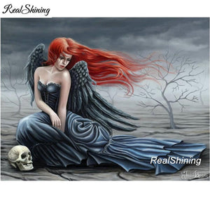 5D Diamond Painting Red Haired Dark Angel Kit