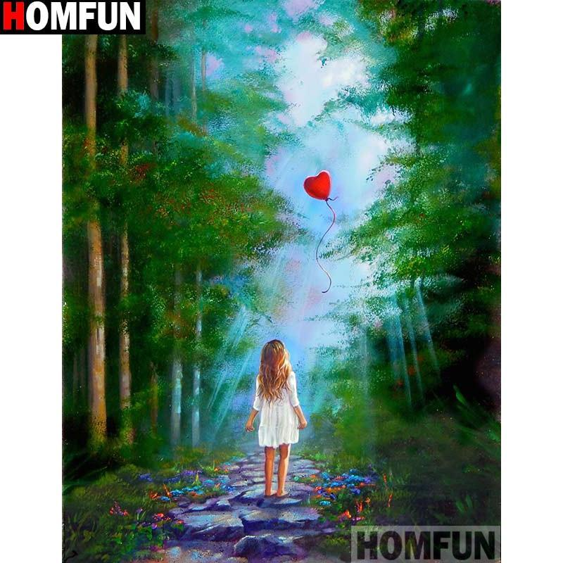 5D Diamond Painting Red Heart Shaped Balloon Kit