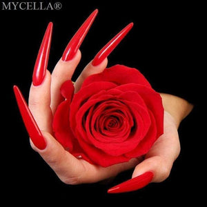 5D Diamond Painting Red Nails & Rose Kit