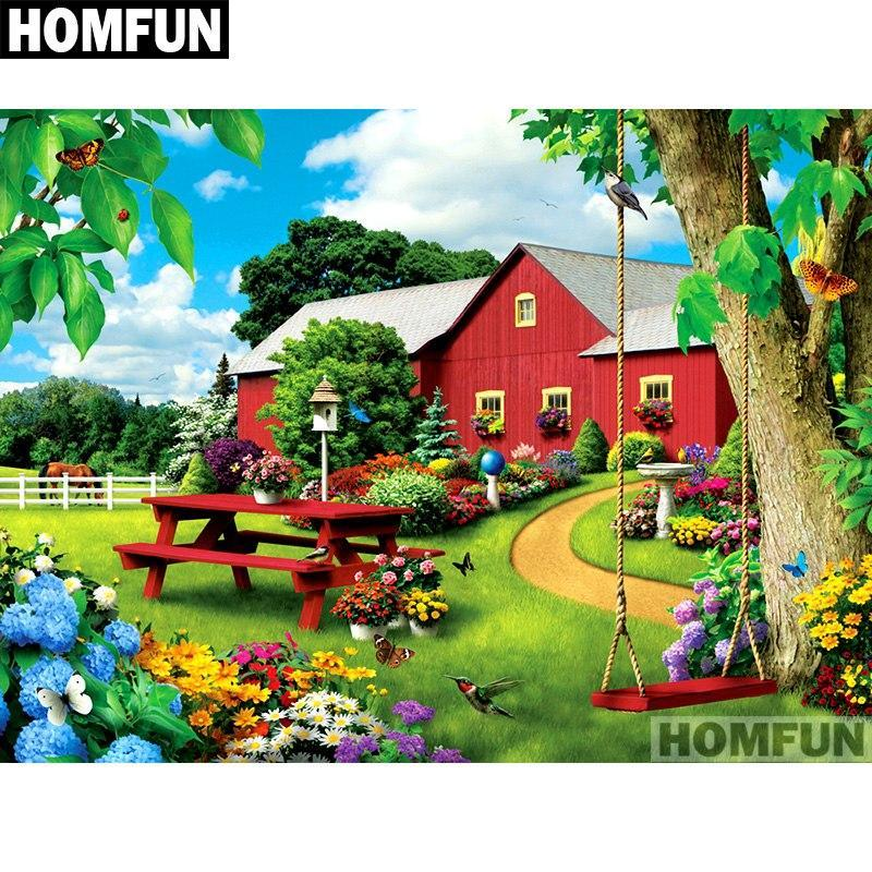 5D Diamond Painting Red Picnic Table Kit