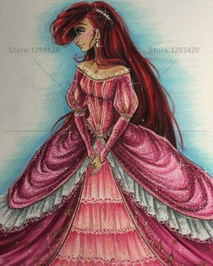 5D Diamond Painting Red Princess Kit