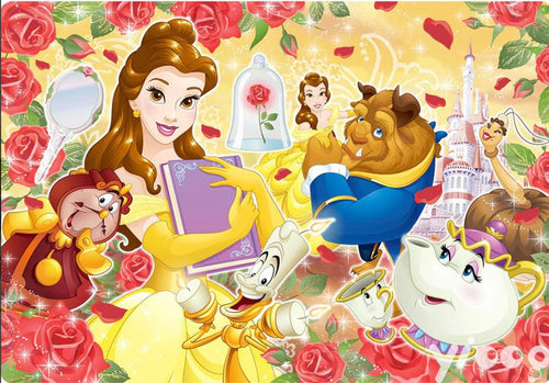 5D Diamond Painting Red Rose Beauty & The Beast Collage Kit