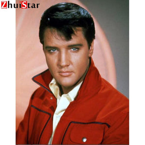 5D Diamond Painting Red Shirt Elvis Presley Kit