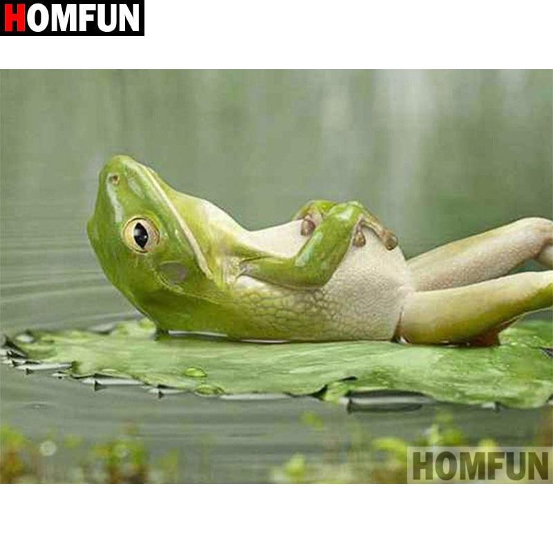 5D Diamond Painting Relaxing Frog Kit