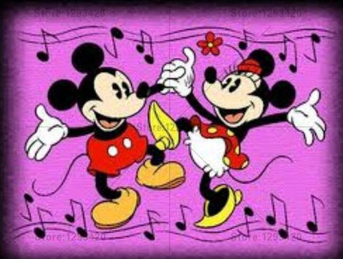 5D Diamond Painting Retro Mickey and Minnie Mouse Kit
