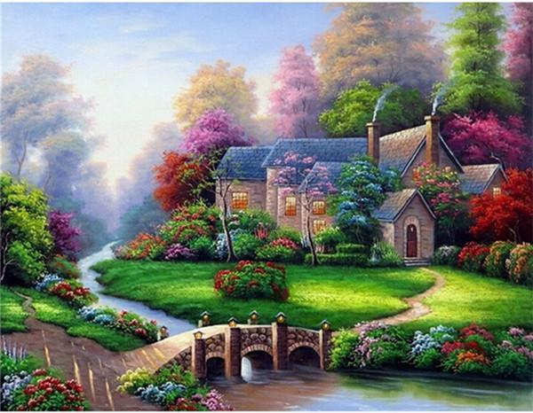 5D Diamond Painting Riverside Garden Home Kit