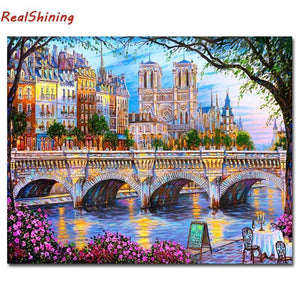 5D Diamond Painting Riverside in Paris Kit