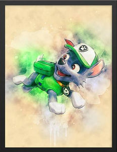 5D Diamond Painting Rocky From Paw Patrol Kit