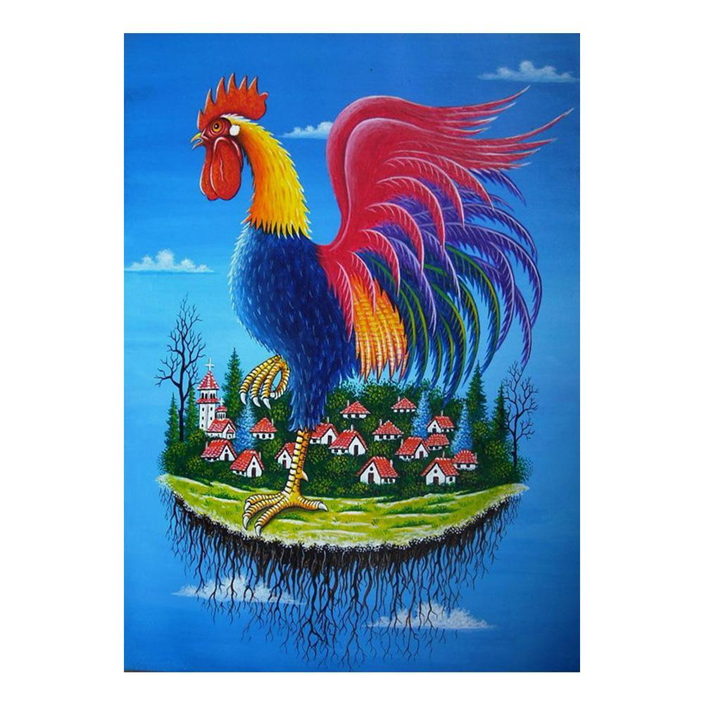 5D Diamond Painting Rooster in the Air Kit