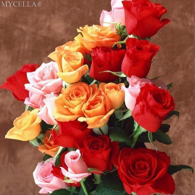 5D Diamond Painting Rose Bouquet Kit