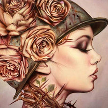 5D Diamond Painting Rose Thorn Helmet Girl Kit