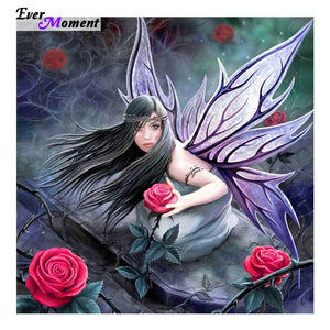 5D Diamond Painting Roses Fairy Kit