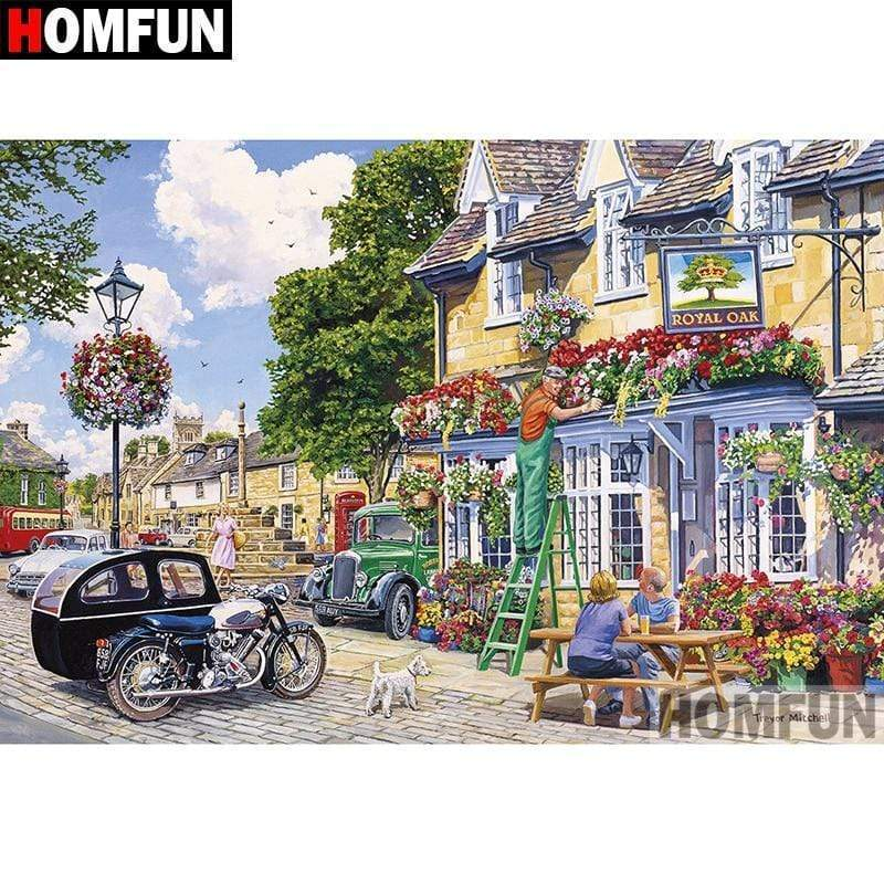 5D Diamond Painting Royal Oak Flower Shop Kit