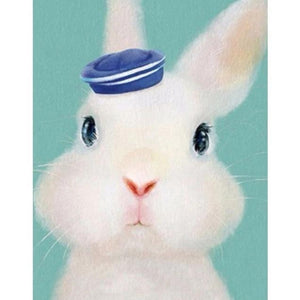 5D Diamond Painting Sailor Hat Rabbit Kit