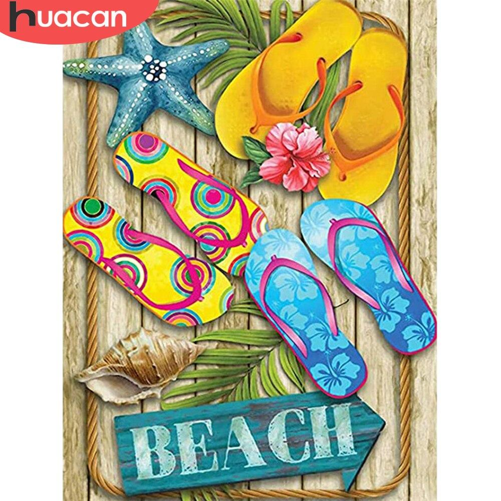5D Diamond Painting Sandals at the Beach Kit