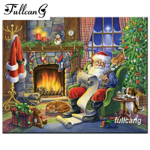 5D Diamond Painting Santa's List Kit