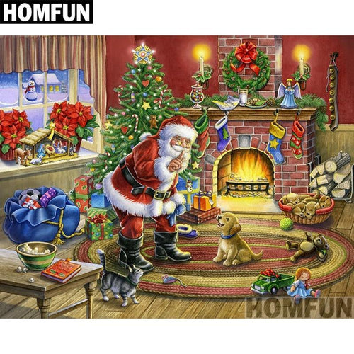 5D Diamond Painting Santa's Visit Kit