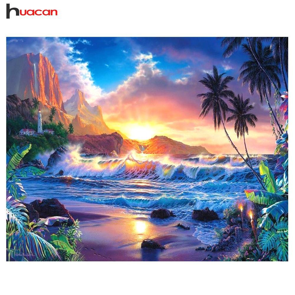 5D Diamond Painting Sea Sunset Kit