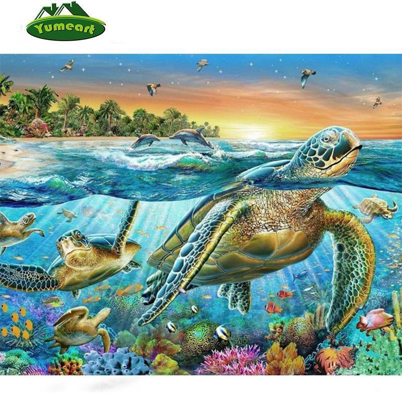 5D Diamond Painting Sea Turtles Kit